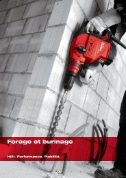 Forage et burinage - Hilti