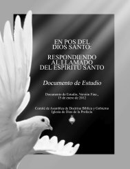 En Pos del Dios Santo - Church of God of Prophecy
