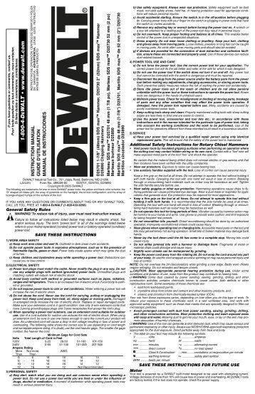 1-800-4-D W A L T • www .dewalt.com - Home Depot