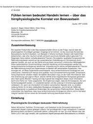 Fühlen - Cognitive Science - Universität Osnabrück