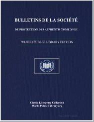 bulletins de la société de protection des apprentis tome xviii
