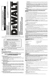 Instruction Manual - Service - Dewalt.no