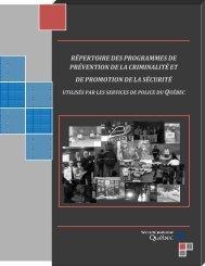Répertoire des programmes de prévention de la criminalité et de la ...