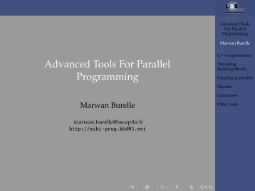 Advanced Tools For Parallel Programming