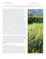 Improving the Status of Sunn hemp as a Cover Crop for Soil Health ...