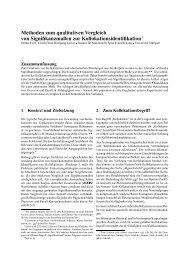 Methoden zum qualitativen Vergleich von Signifikanzmaßen zur ...
