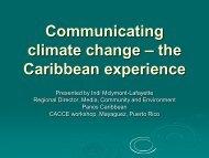 Communicating climate change ? the Caribbean ... - CoHemis