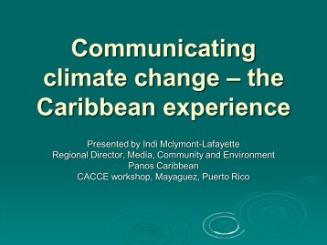 Communicating climate change ? the Caribbean ... - CoHemis