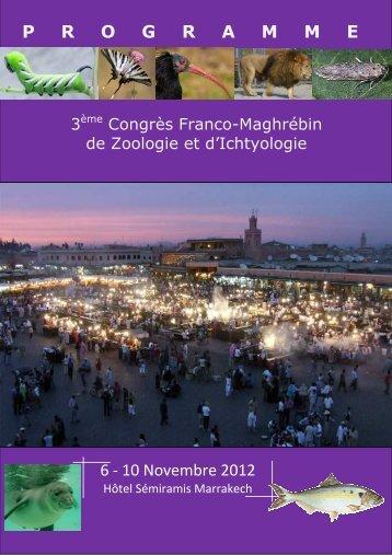 Programme 3ème Congrès Franco-Maghrébin de Zoologie et d ...
