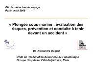 « Plongée sous marine : évaluation des risques, prévention et ...