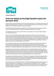 PRESS RELEASE Unique Display at the Spring Air Show FINAL