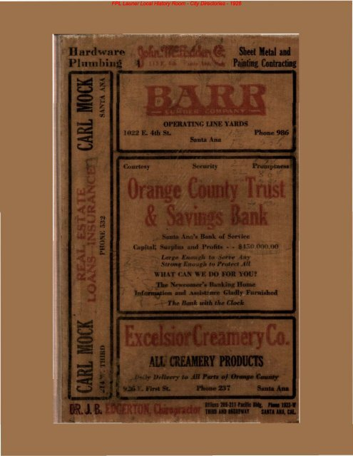 Fpl Launer Local History Room City Directories 1925 Fpl
