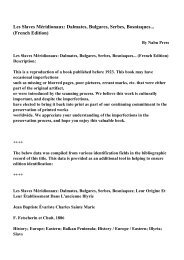 Dalmates, Bulgares, Serbes, Bosniaques... (French Edition)