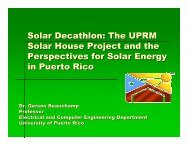 Solar Decathlon: The UPRM Solar House Project - CoHemis - UPRM
