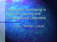 Information Processing in Machine Learning and Computational ...