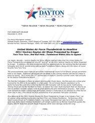United States Air Force Thunderbirds to Headline ... - Dayton Air Show
