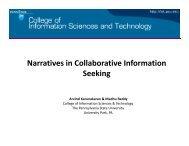 Presentation - Collaborative Information Seeking