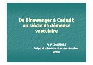 Pr Zagnoli - Démences vasculaires [Mode de compatibilité] - SGOC
