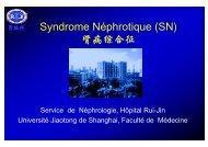 S d Né h ti (SN) Syndrome Néphrotique (SN) 肾病综合征
