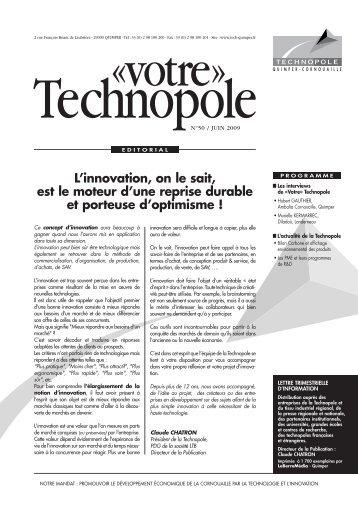 Lettre d'information N°50 - juin 2009 - Technopole Quimper ...