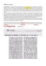 Le Télégramme - Fédération Environnement Durable
