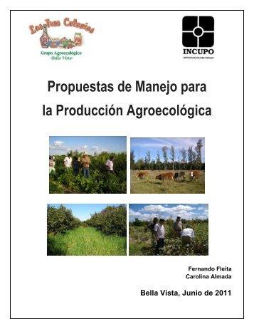 Propuestas de Manejo para la Producción Agroecológica