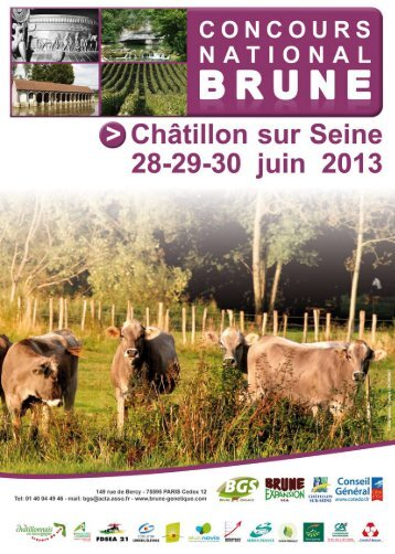 Liste Vente Nationale 2013 - Brune Genetique Services