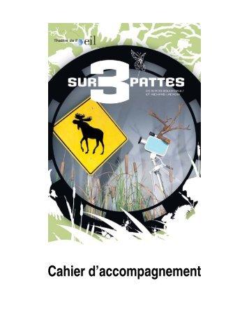 Cahier pédagogique Sur 3 pattes - Les Gros Becs