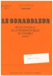numéro 089 - juin - Fédération Belge de Scrabble