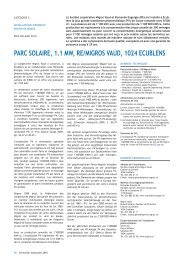 Parc Solaire, 1.1 MW, RE/Migros Vaud, Ecublens/VD - Solar Agentur ...