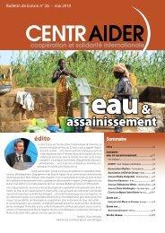 Lire le bulletin de mai 2010 - Centraider