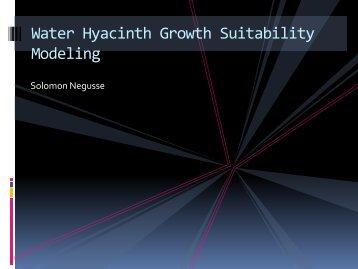 Water Hyacinth Growth Suitability Modeling for Lake Nokoue, Benin