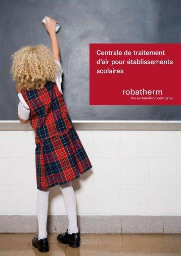 Centrale de traitement d'air pour établissements scolaires - robatherm