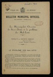 bulletin municipal officiel - Archives municipales de Saint-Denis