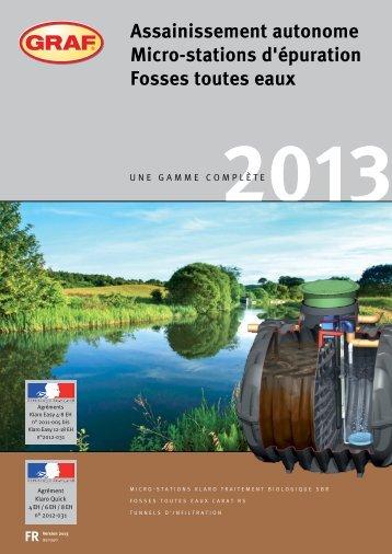 Catalogue assainissement 2013 - Graf
