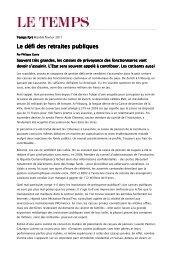 Le défi des retraites publiques Le défi des ... - Lusenti Partners