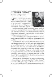 Interview: Stephen Elliott - Columbia: A Journal of Literature and Art
