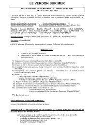 Conseil du 3 mai - Le Verdon-sur-Mer