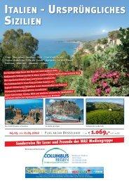 Taormina - Syrakus - Noto - Liparische Inseln - Columbus Reisen