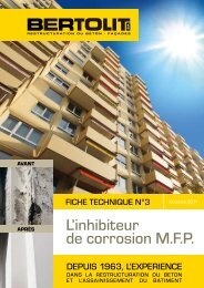 Fiche Technique N°3 : L'inhibiteur de corrosion M.F.P. - Bertolit SA