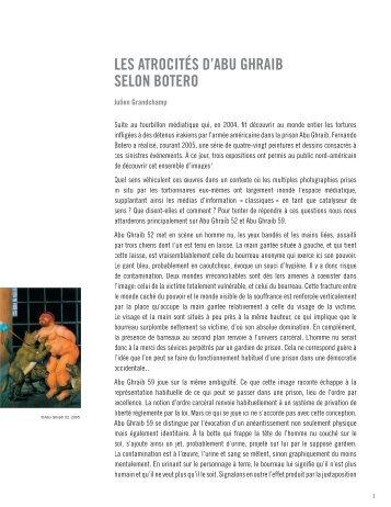 les atrocités d'abu ghraib selon botero - Chaire René-Malo