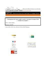L'aménagement des espaces publics centraux : perception ... - POPSU