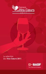 La sélection des Vins-Cœurs 2011 - BASF Agro