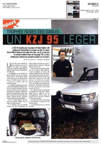 UN-KZJ 95 LEGER - Trophée Roses Des Sables