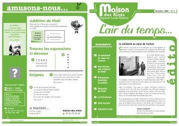n° 3 Décembre 2009 - Villeneuve sur Lot