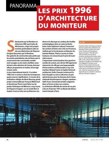 Le Moniteur - janvier 1997 - Archives nationales