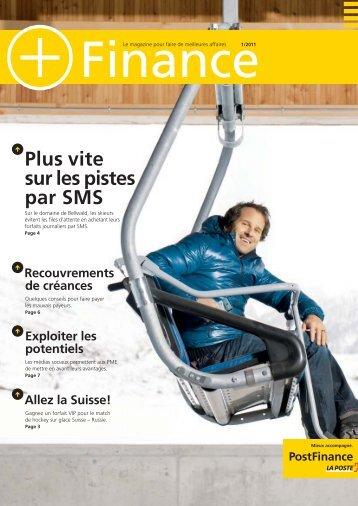 Le magazine pour faire de meilleures affaires 1/2011 ... - PostFinance