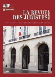 la revue des juristes de sciences po - AJSP