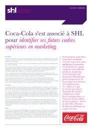 Coca-Cola s'est associé à SHL pour identifier ses futurs cadres ...