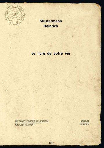 Mustermann Heinrich Le livre de votre vie - Astro-Book